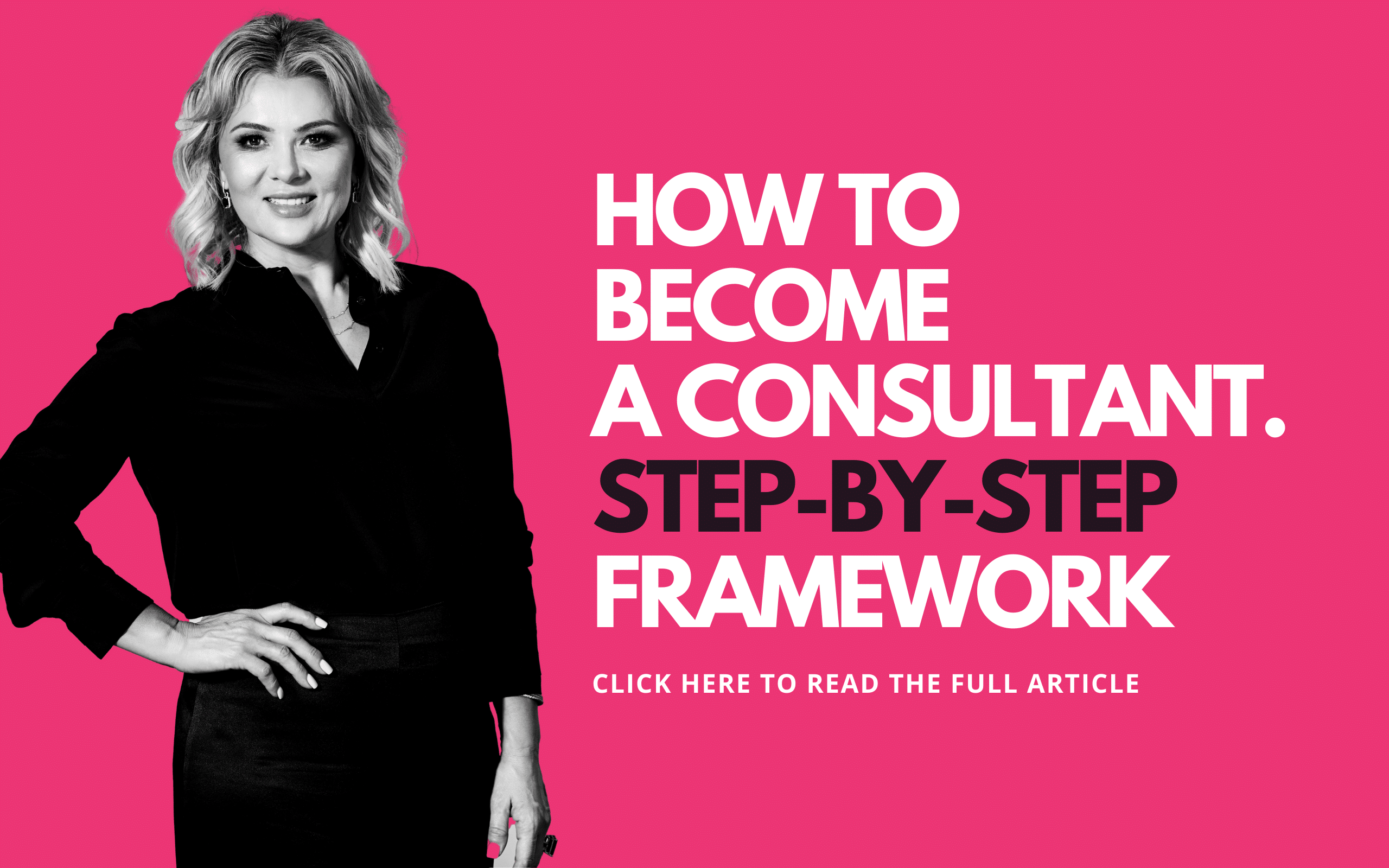 how to become a consultant step-by-step